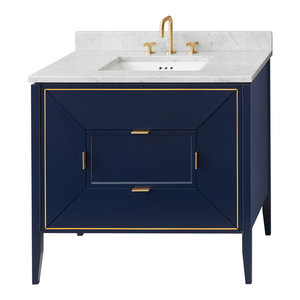 "Ronbow 30"" Amora Bathroom Vanity Cabinet Base, Navy"