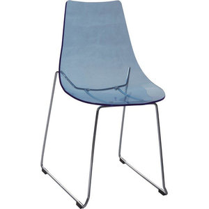 Pixhome Transparent Blue Dining Chair