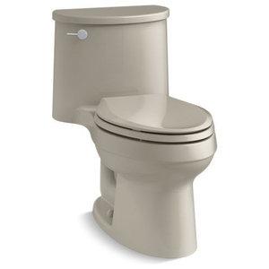Kohler ADAir 1-Piece Elongated 1.28 GPF Toilet With Left-Hand Lever, Sandbar