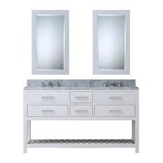 """Water Creation - Madalyn 30"""" Solid White Single Sink Bathroom Vanity Only - Bathroom Vanities and Sink Consoles"""