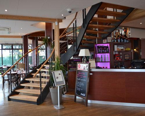 escalier restaurant la villa angevine. Black Bedroom Furniture Sets. Home Design Ideas