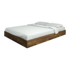 Eco-Friendly Platform Bed in Brown
