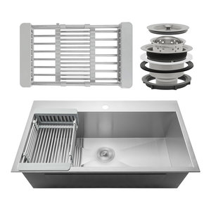 32 Quot X18 Quot X9 Quot Handmade Stainless Steel Top Mount Kitchen Sink