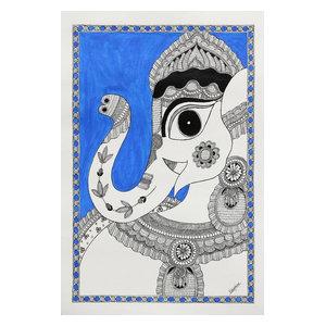 Magnificent Ganesha II Madhubani Painting