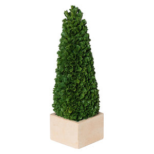 Faux Boxwood Potted Topiary Tree, Small