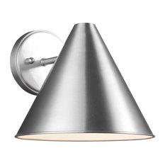 Sea Gull Lighting 1-Light Outdoor Lantern, Satin Aluminum