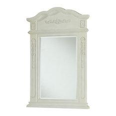 white bathroom mirrors  houzz, Home decor