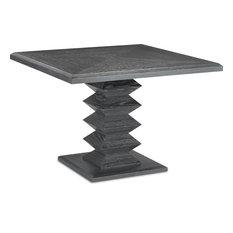 Sayan Dining Table - Cerused Black