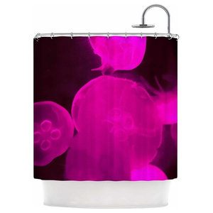 69 x 70 Shower Curtain Kess InHouse Carina Povarchik Indian Powders Red Photography