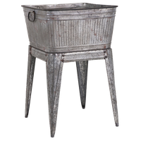 Adorable Galvanized Tub on Stand