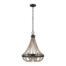 Oglesby 3 Light Chandelier in Washed Pine