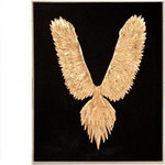 EuroLux Home - Wall Art Abstract Feather Bird Gold Leaf Acrylic - Product Details