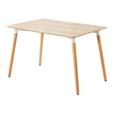 Halo Dining Table, Light Oak, Round Legs