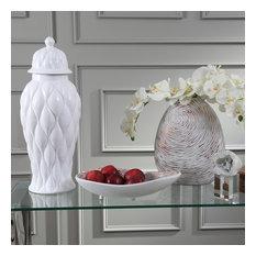 """Turned Look Resin Vase, Brown 14.5"""""""