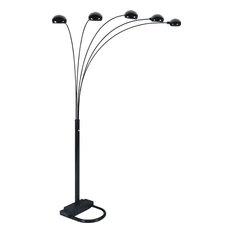 50 most popular contemporary floor lamps for 2018 houzz mod kensington adjustable arc floor lamp black floor lamps aloadofball Image collections