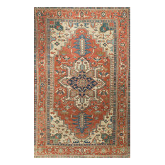 """Traditional Antique-Style Hand Woven Rug, 9'1""""x13'7"""""""