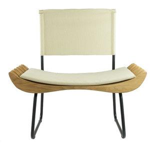 Organic Upholstered Armchair, Ecru