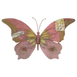 Metal Butterfly Wall Decor With Ornate Wings Contemporary Outdoor Wall Art By Pier Surplus