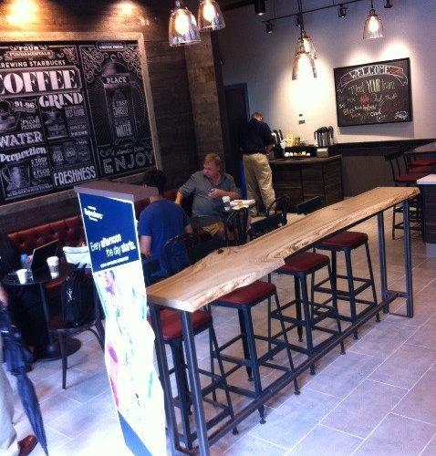 Starbucks Poplar Live Edge Console Table