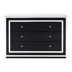 Malibu Mirrored 3-Drawer Dresser
