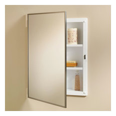Jensen 468BC Styleline Framed Medicine Cabinet with Mirror and 2 Shelves