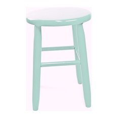 Garland Wood Round Stool 1518 Black Coastal Blue