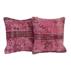 Colorful Rustic Throw Pillows : Rustic Pink Decorative Pillows Houzz