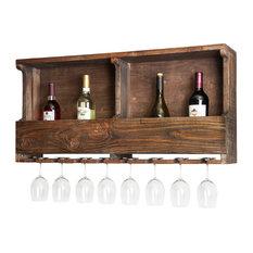 Pomona Reclaimed Wood 8 Bottle Wall Mounted Wine Bottle Rack