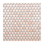 "12""x12"" Pink Penny Round Mosaic Tile"