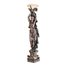 The Peacock Goddess Torchiere Lamp