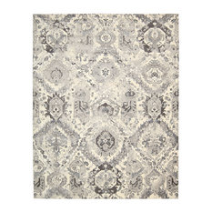 Nourison Twilight Floral Grey and Ivory Rug, 366x457 Cm