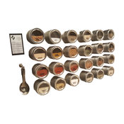 Magnetic Spice Rack Without Stainless Steel Plate, 24 Jars