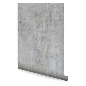 "Concrete Wallpaper, Peel and Stick, Dark Gray, 24""x108"""
