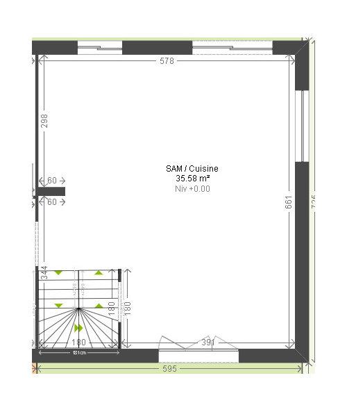 Idee Amenagement Cuisine Salon Sam De 35m2
