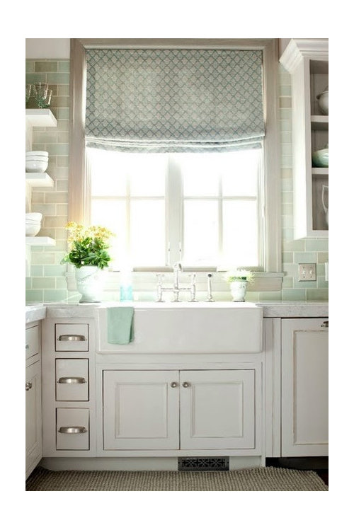 Relaxed Vs Standard Roman Shades For Kitchen