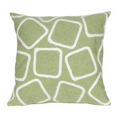 "Squares Lime Pillow, 20"" Square"
