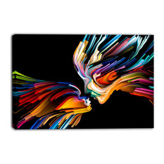 """""""Kissing Minds Graphic Art"""" Abstract Canvas Art Print, 40""""x30"""""""