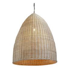 Raw Wicker Pod Lantern Medium