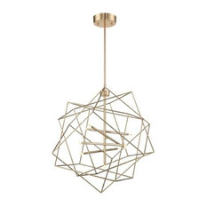 "Stacia 76"" 27W 9 LED Pendant French Gold"