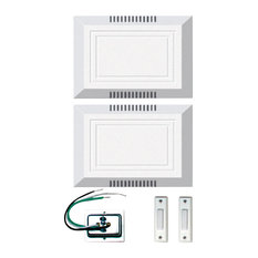 Craftmade C102X2L Builder Compliant Door Chime Kit - Two Chimes - White