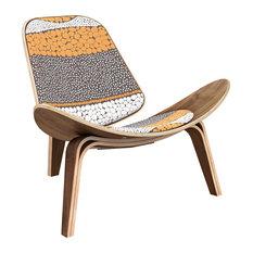 Walnut Shell Chair, Retro Promenade