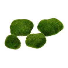 Replica Moss Rocks, 8 Piece Set for Miniature Garden, Fairy Garden