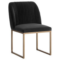 Velvet Dining Chair, Gray