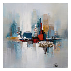 Romance II- Decor in Abstract Paintings, Modern Hand Painted Canvas Art