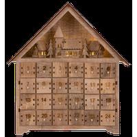 "14.17""L Wooden Led Countdown Farmhouse"