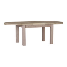 Large 1.8-2.3 m Oval Extendable Dining Table, Grey Whitewash Oak