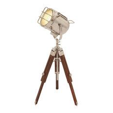 Brown Metal Industrial Desk Lamp, 30x13x13