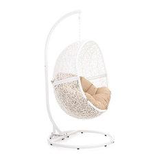 Modern Shore Swing Chair, Khaki