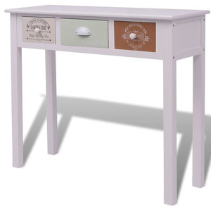 vidaXL Shabby Chic French Console Table