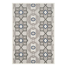 "Safavieh Cottage COT923G Gray/Dark Gray Rug, 4'0""x6'0"" Rectangle"